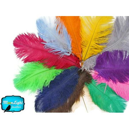 1 2 Lb   17 19  Medium Pink Ostrich Large Drab Wholesale Feathers  Bulk  Swa