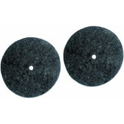 Koblenz Felt Buffing Pads With Plastic Retainers - 2 Pads 2 Retainers