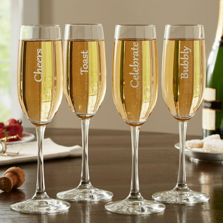 Personalized RedEnvelope Cheers! Champagne Flutes - Personalized Champagne Glasses