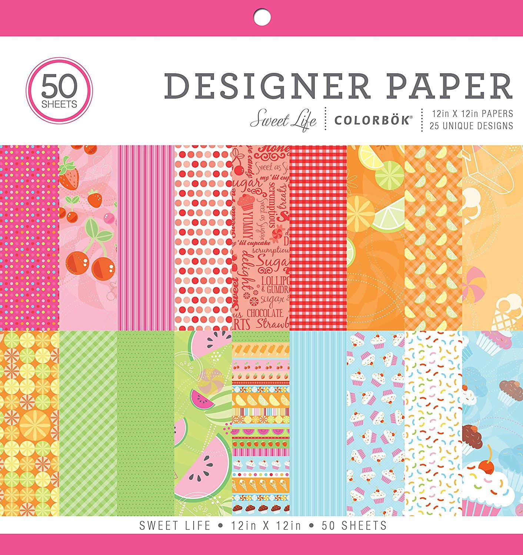 "73613 Sweet Life Designer Paper Pad 12"" x 12"", Designer paper By Colorbok"