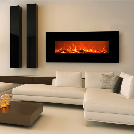 Free Shipping. Buy Electric Fireplace Wall Mount Burning Sound & Realistic Flame EZcheer 50 Inch Black Heater at Walmart.com