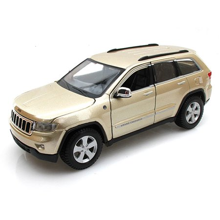 Jeep Grand Cherokee Laredo SUV, Gold - Maisto 34205 - 1/24 Scale Diecast Model Toy Car (Brand New, but NOT IN BOX) - Box Shaped Cars