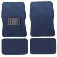 Premium Car Floor Mats Carpet Solid Blue 4pc Front Rear For Honda Accord