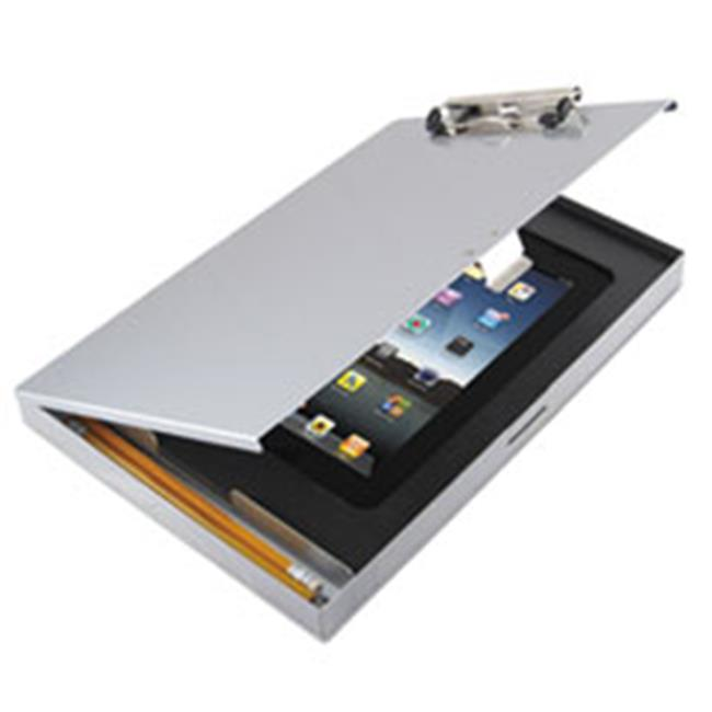 Saunders 45451 Storage Clipboard with iPad Air Compartment, 8.5 x 12 - Silver