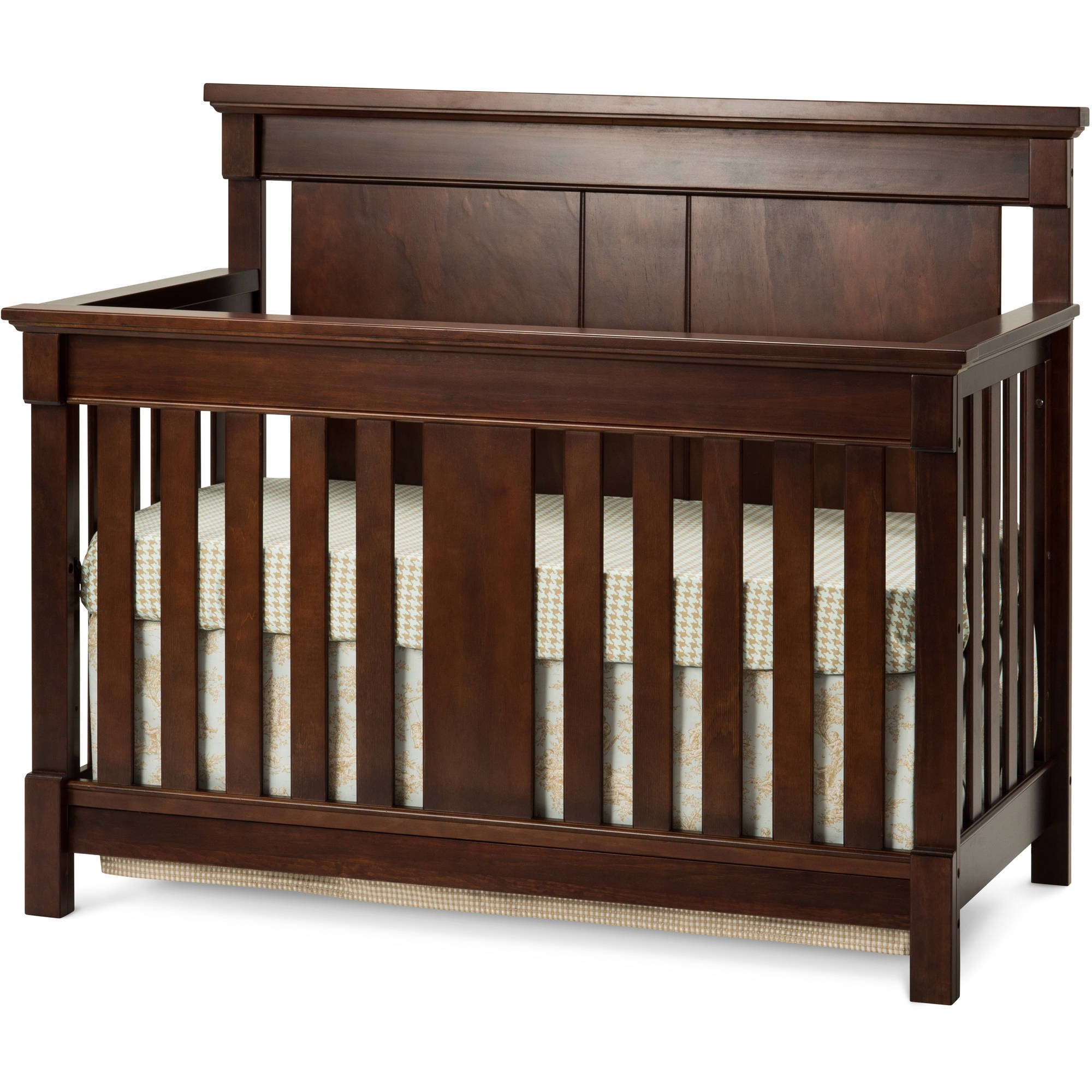 Bradford 4-in-1 Lifetime Convertible Crib, Select Cherry
