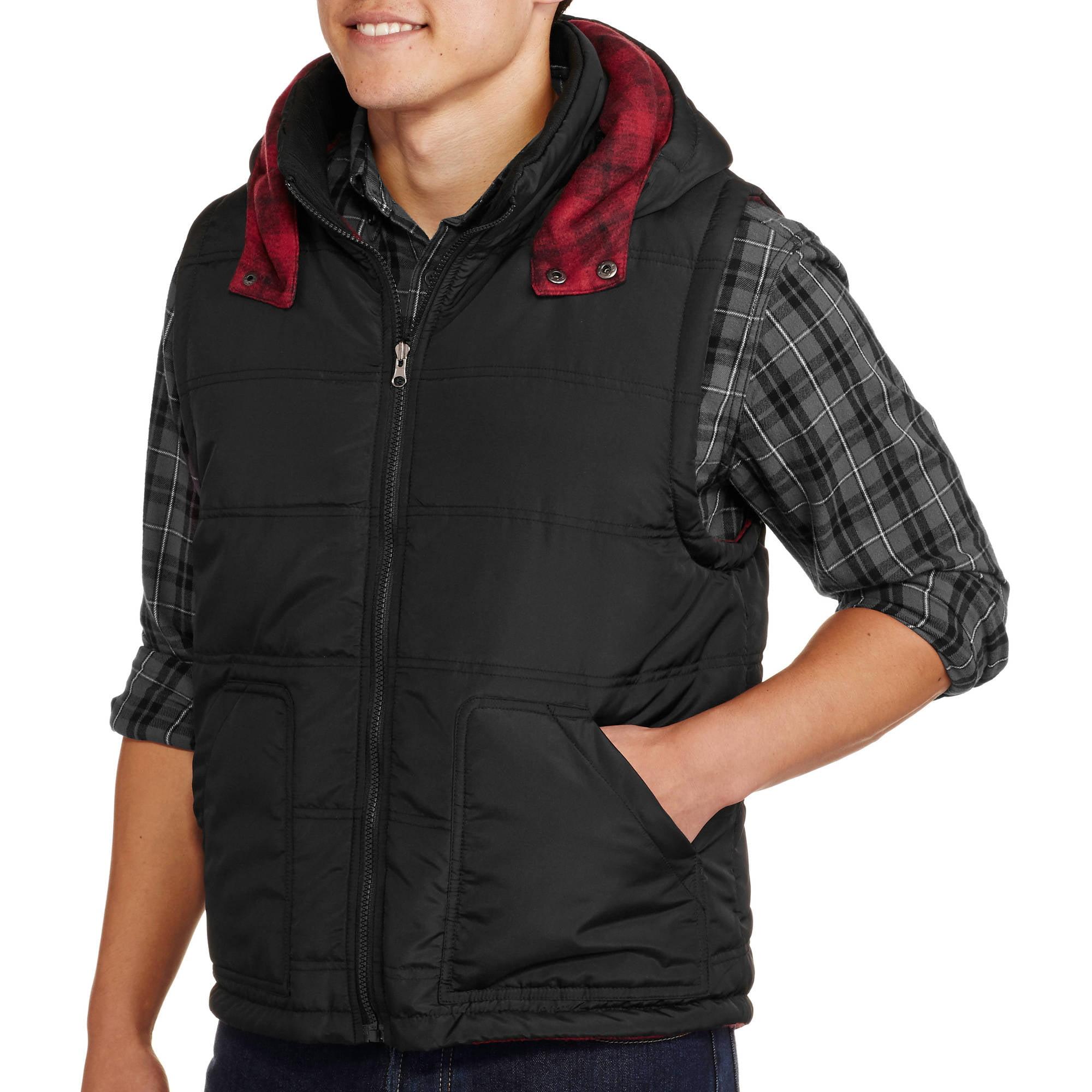 Men's Reversible Plaid Buffalo Vest