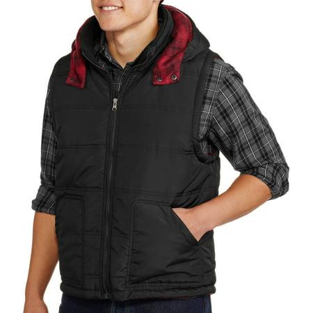 Mens Christmas Vests - Men's Reversible Plaid Buffalo Vest