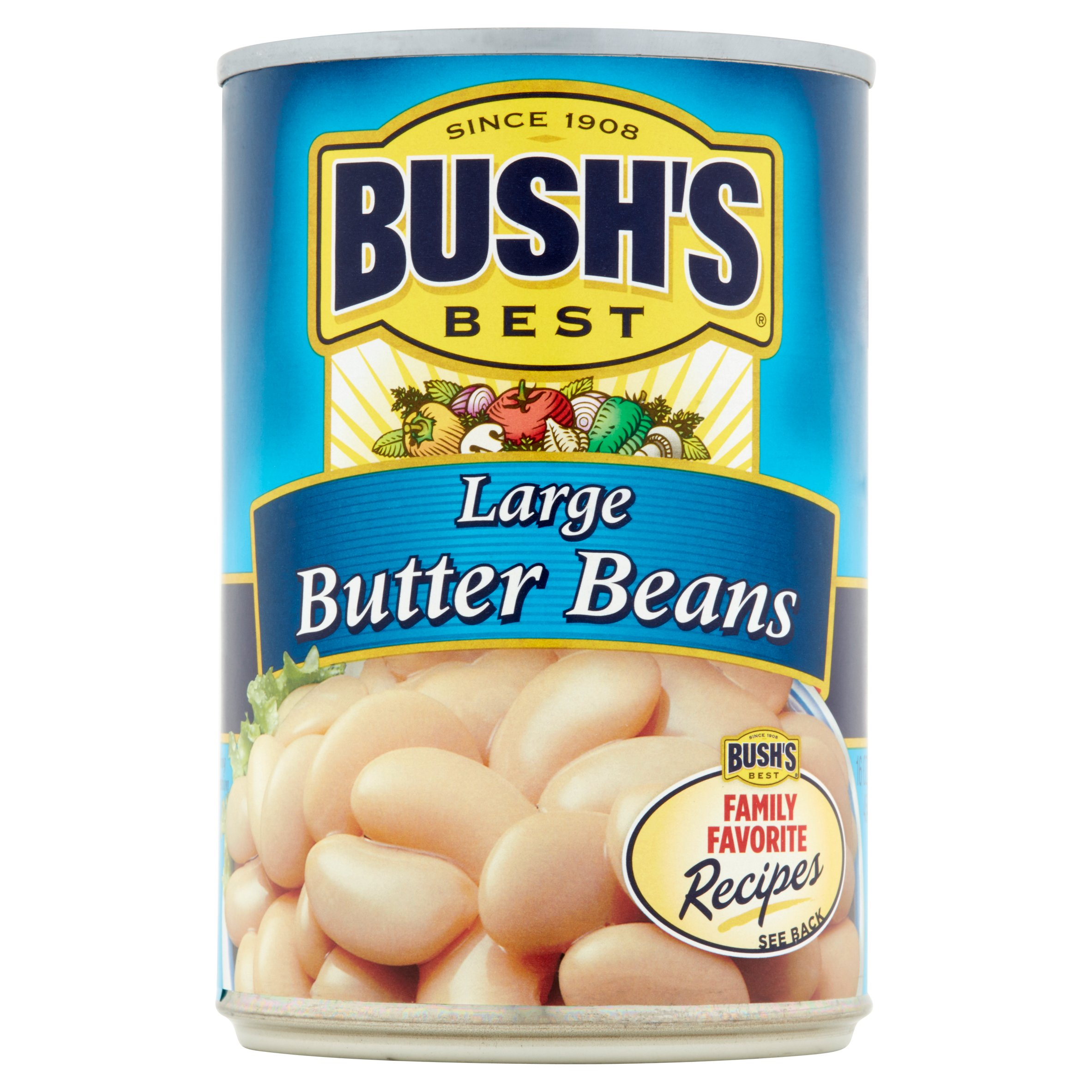 Bushs Best Large Butter Beans, 16 oz by Bush Brothers & Company