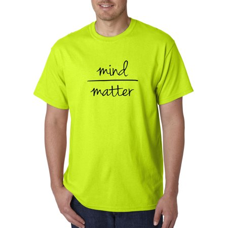 New Way 1193 - Unisex T-Shirt Mind Over Matter Inspiraton Motivate Medium Safety Green