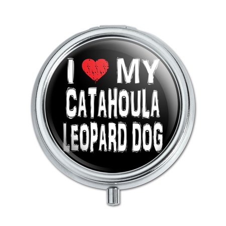 I Love My Catahoula Leopard Dog Stylish Pill Box