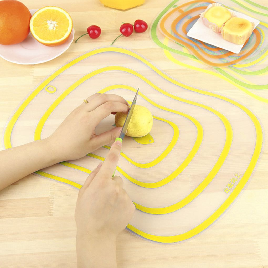 2Pcs Flexible Transparent Cutting Board Kitchen PP Cutting Boards Classification Chopping Board