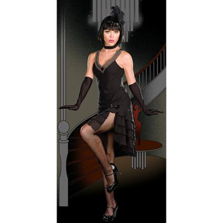 Costume Cabaret (Dreamgirl Sexy Black Cabaret Dress Flapper Halloween Costume)