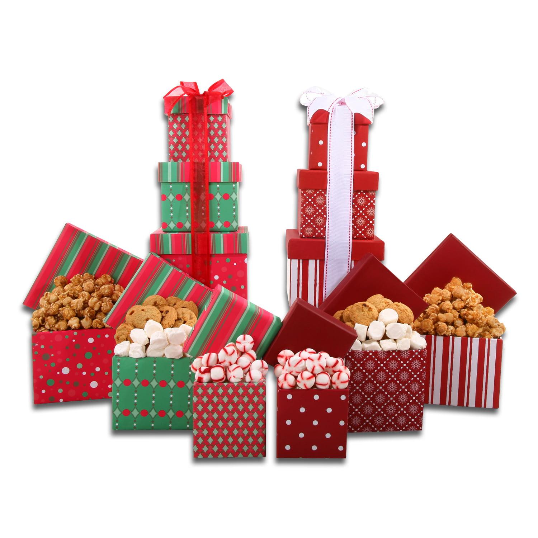 Alder Creek Gift Baskets Set of Two Tower Gift Sets