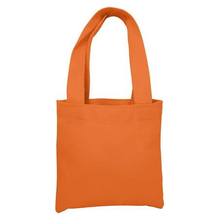 Promotional Eco-Friendly Non Woven Mini Colorful Gift Tote Bag Art Craft Screen Print School Dye (50, Orange)