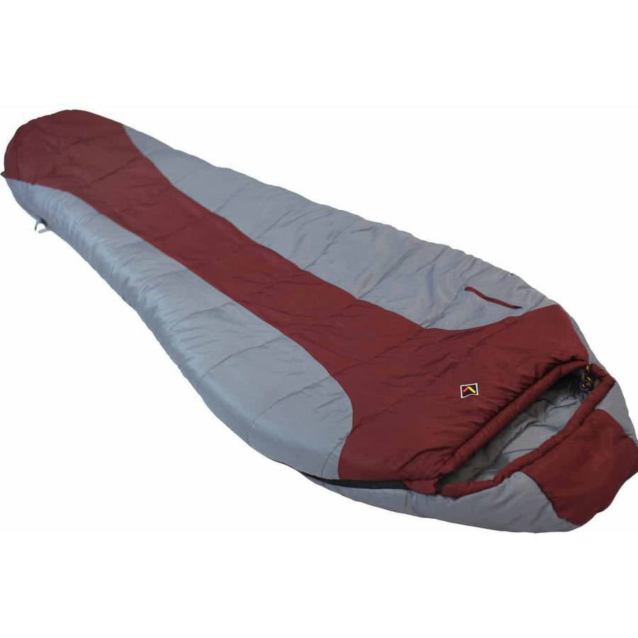 Ledge FeatherLite 0-Degree Sleeping Bag, Maroon by Ledge Sports