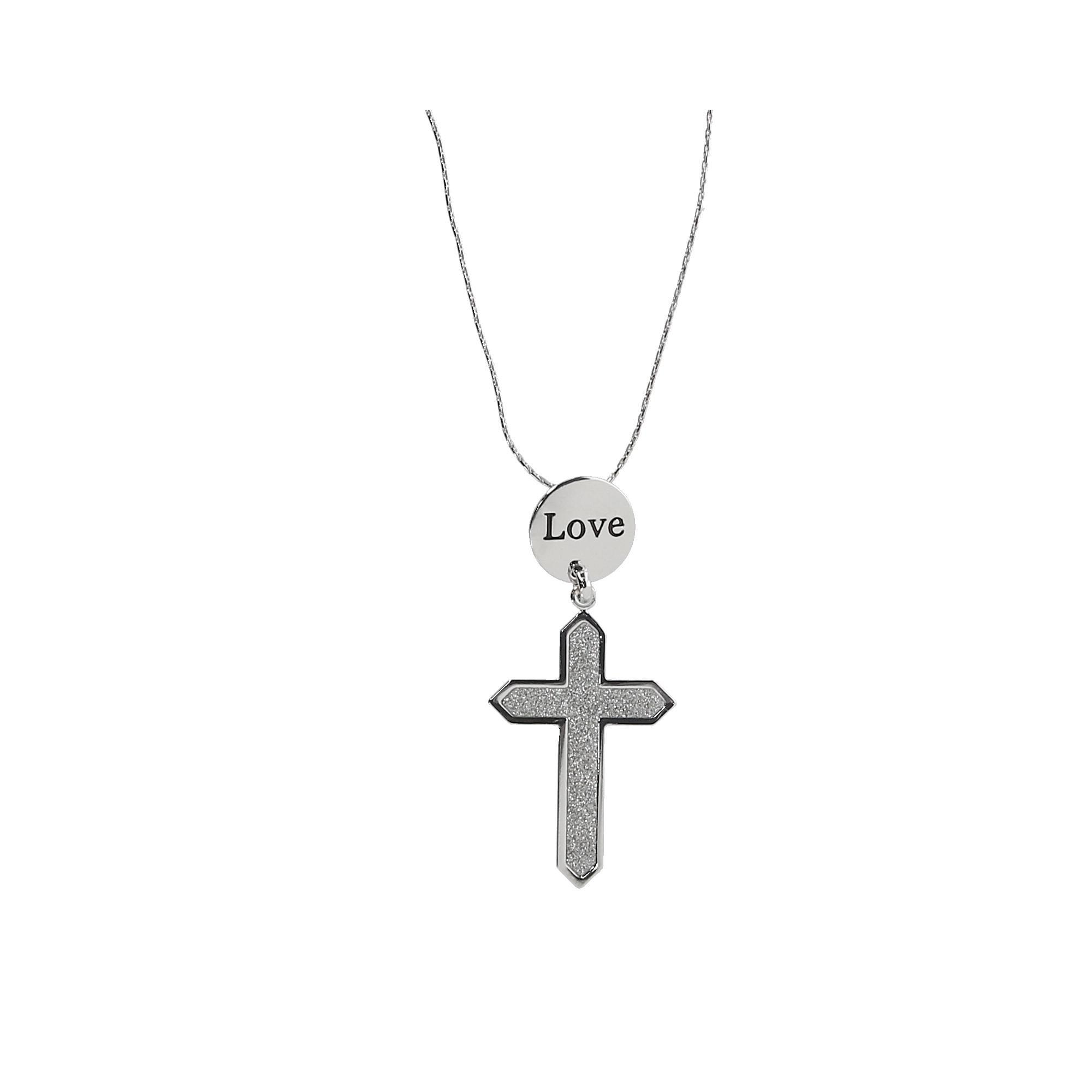 Howard's Circle of Love Cross Pendant Necklace - image 2 de 2