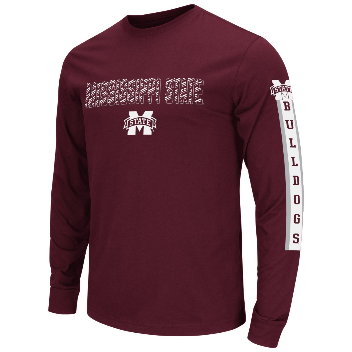 """Mississippi State Bulldogs NCAA """"Surge"""" Long Sleeve Dual Blend Men's T-Shirt"""
