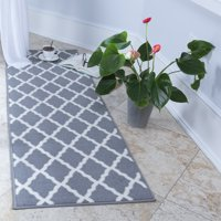Deals on Ottomanson Glamour Moroccan Geometric Runner Rug 20 x 59-in