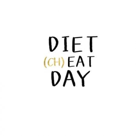 Diet Cheat Day Poster Print by Linda Woods (24 x 24) - Home Design Halloween Cheats