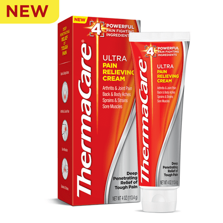 ThermaCare Ultra Pain Relieving Cream (2.5 Ounce), Quick Absorbing Formula, Fast Pain Relief, Arthritis & Joint Pain, Back & Body Aches, Sprains & Strains, Sore