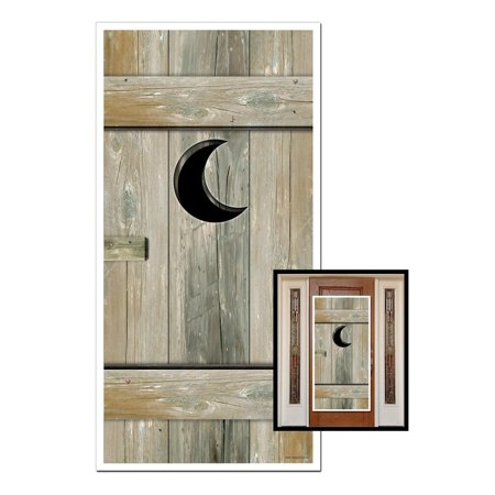 Club Pack of 12 Western Themed Outhouse Door Cover Party Decorations 5' - Western Themed Parties