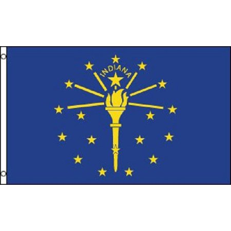 Indiana Flag Pictures (Indiana Flag IN State Banner Pennant 2x3 foot Indoor Outdoor 24x36 inches New )