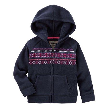 OshKosh B'gosh Little Girls' Hooded Fair Isle Sweater, 6 - Fair Isle Sweater Kids