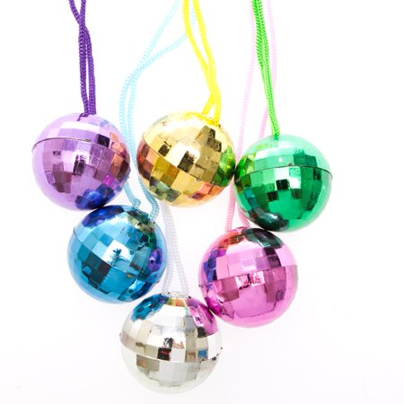 Disco Ball Necklaces (Disco Ball Invitations)