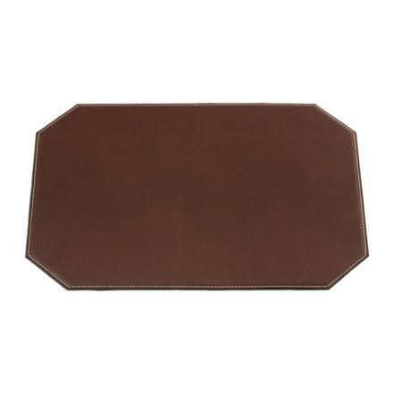 Leatherette Cut Corner (Dacasso Brown 17 x 12 Leatherette Cut Corner)
