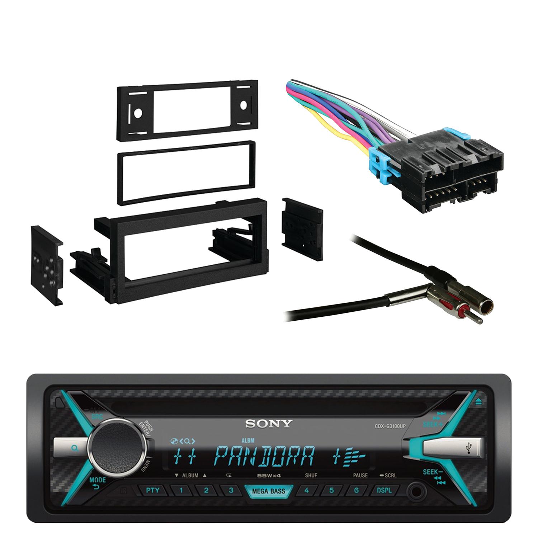 Sony CD Single receiver with Mega Bass Dynamic Amp (Black...