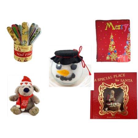 Christmas Fun Gift Bundle [5 Piece] - 20   Themed Nail Files (Assrt) - Merry  Door Mat  17.5