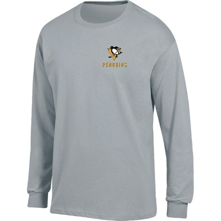 Pittsburgh Penguins T-shirt (Men's Heathered Gray Pittsburgh Penguins Back Hit Long Sleeve)