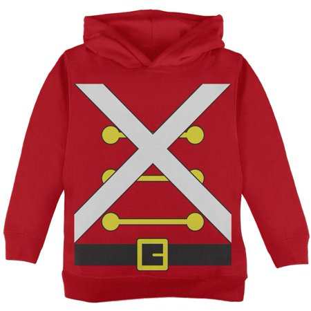 Christmas Toy Soldier Costume Red Toddler Hoodie - Toy Soldier Nutcracker Costume