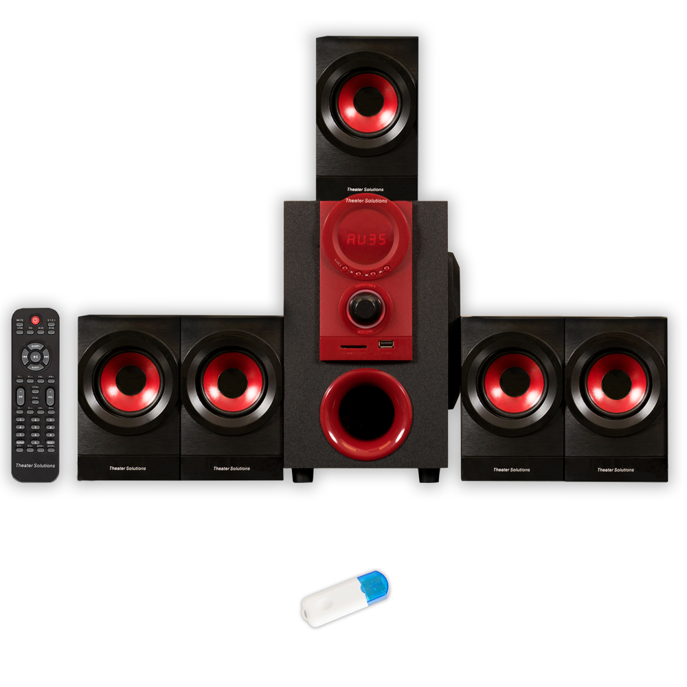 Theater Solutions TS521 Home Theater 5.1 Speaker System 450 Watts and Bluetooth TS521U