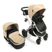 Babyroues Letour Avant Luxe Stroller with Bassinet Silver Frame