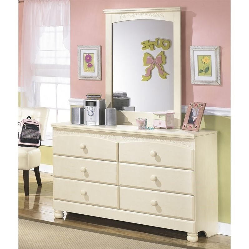 Ashley Cottage Retreat 2 Piece Wood Dresser Set in Cream by Ashley Furniture