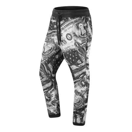 Logo Joggers (NEW Men Joggers Pants USA Flag Dollar Logo Eye US ALL SIZES Drawstrings Elastic )