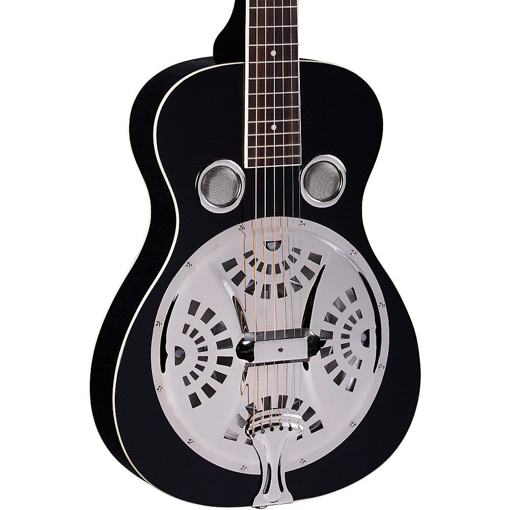 Regal RD-40S Square Neck Resonator Guitar Black by Regal