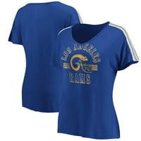 Los Angeles Rams Fanatics Branded Women's Old Timer V-Neck T-Shirt - Royal