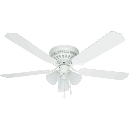 Litex Industries Celeste Deluxe 52 Hugger Ceiling Fan White Finish 3 Light