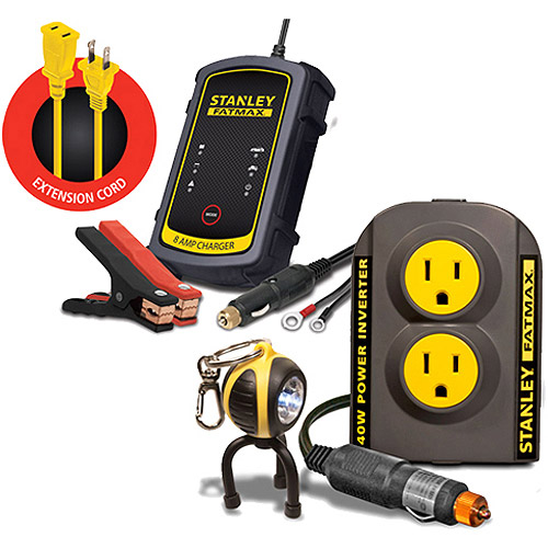 Stanley 'FatMax' Power Inverter & Battery Charger Bundle