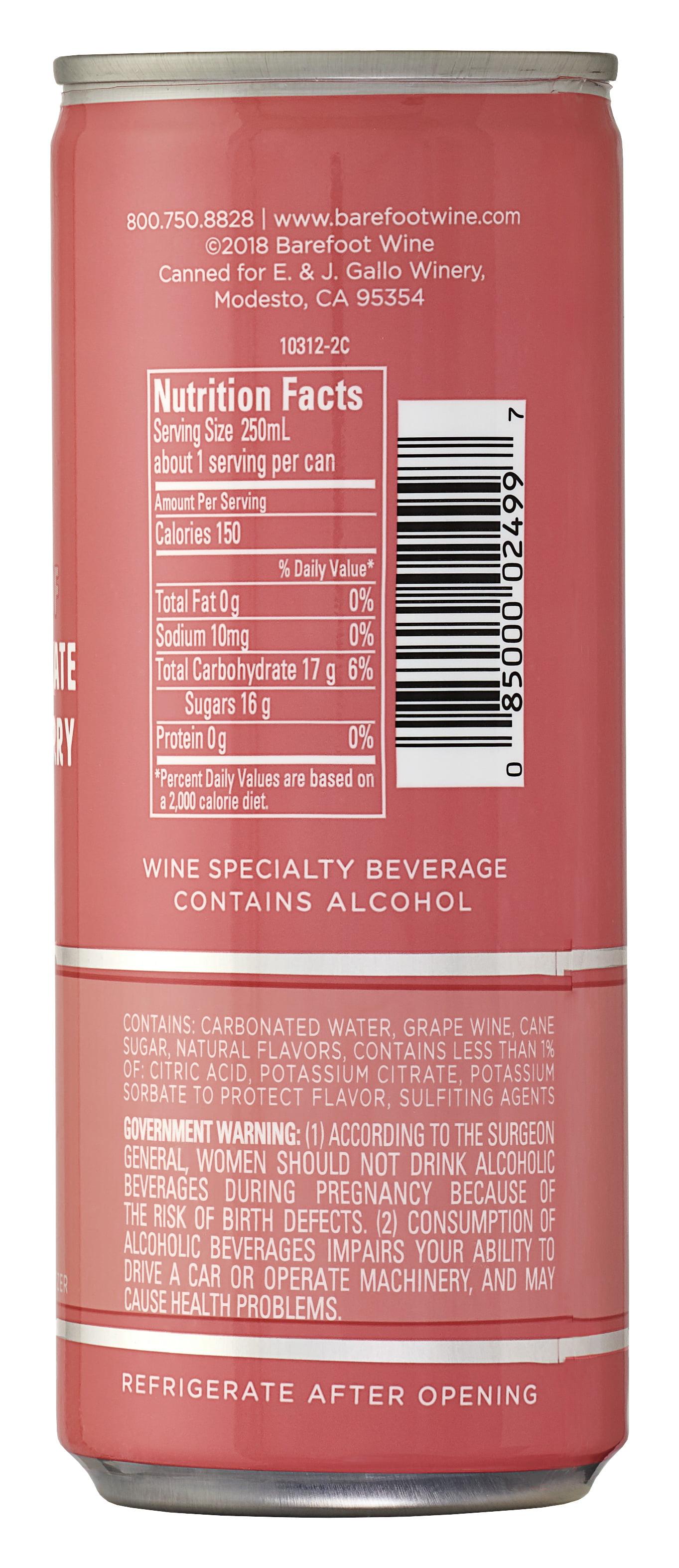 Barefoot Refresh Rose Moscato Spritzer 4 Pack 187 Ml Cans Walmart Com Walmart Com