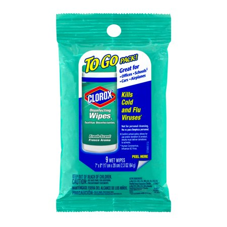 Clorox Disinfecting Wipes To Go Pack  Fresh Scent 9 Ct