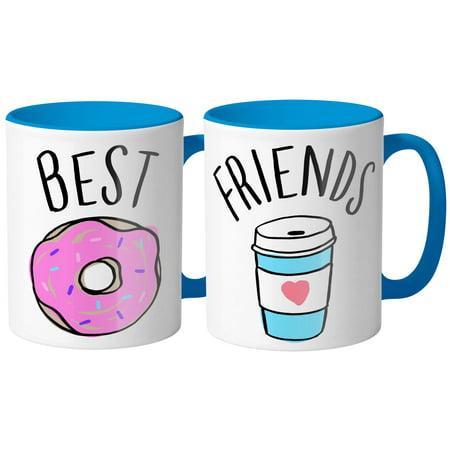 Coffee And Donut Best Friends Coffee Mug 11oz Duo Set