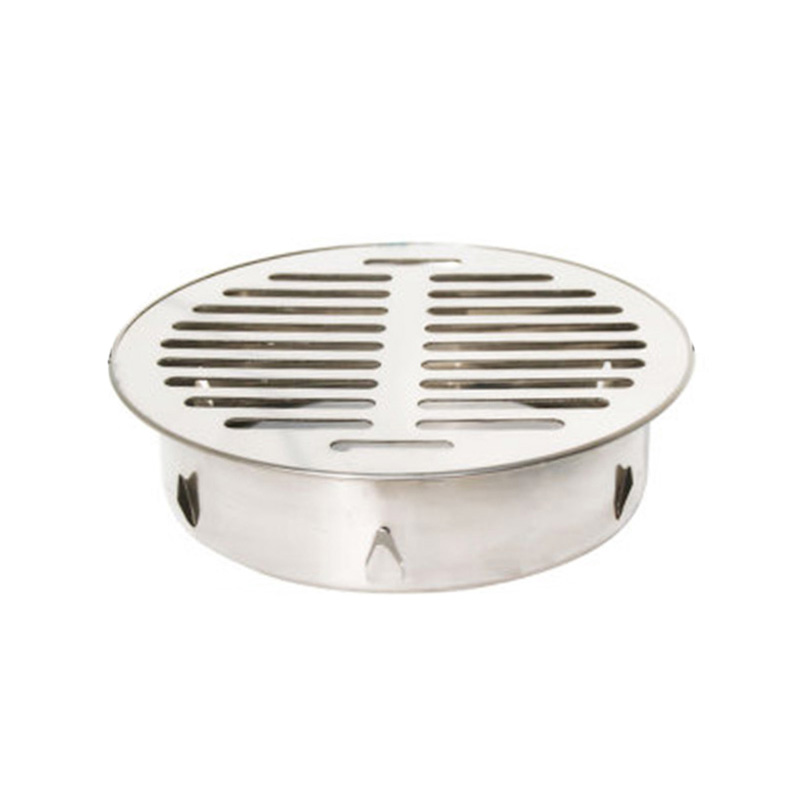Stainless Steel Round Floor Drain Cover Outdoor Balcony Anti-blocking Drainage
