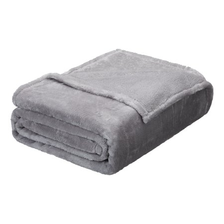 Better Homes & Gardens Luxe Plush Blanket, King Soft Silver