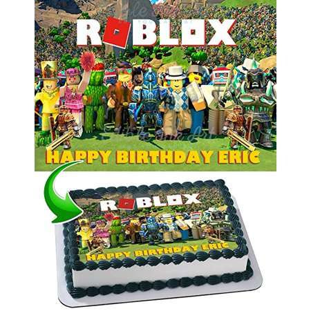 Roblox Edible Cake Topper Personalized Birthday 1/2 Size ...