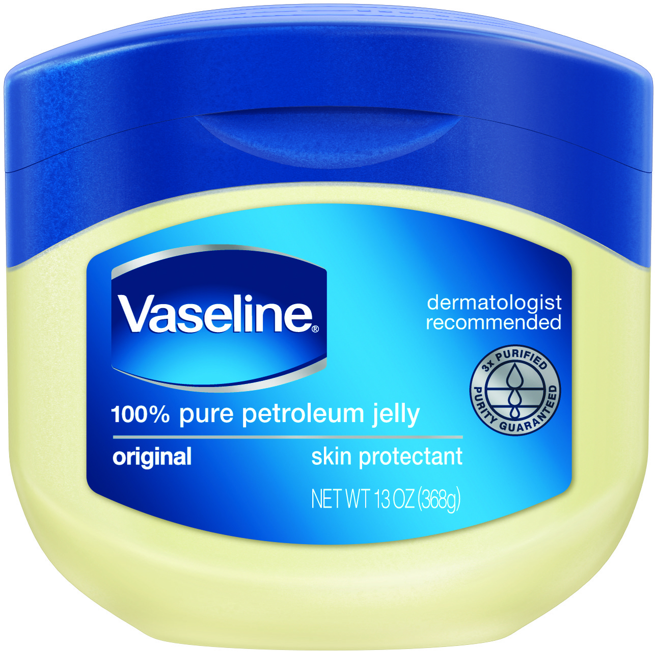 Vaseline Original Skin Protectant Petroleum Jelly, 13 oz