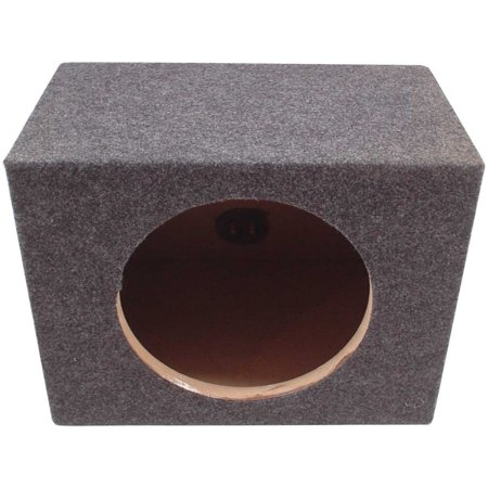 Car Audio Single Sealed Subwoofer Enclosure Bass Stereo 12-Inch Sub Speaker Box