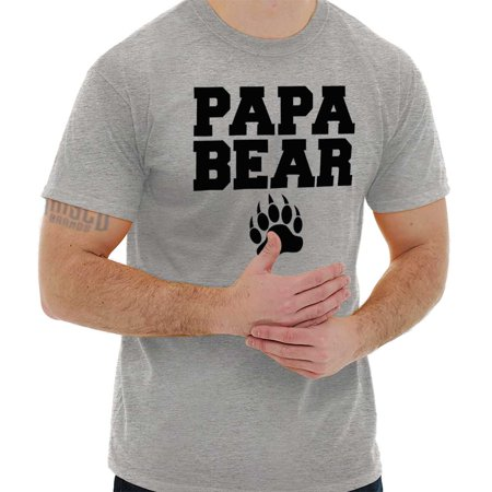Brisco Brands Papa Bear Claw Fathers Day Dad Mens Short Sleeve T-Shirt Dad Short Sleeve Tee